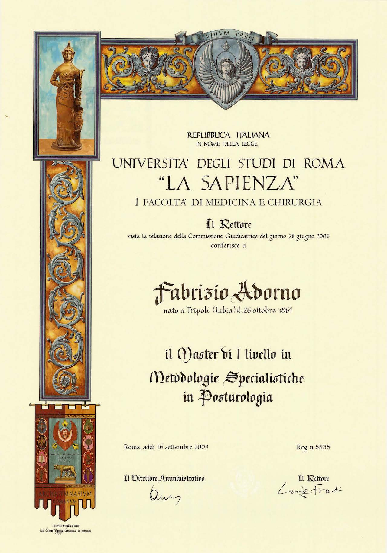 D.M.U. in Posturologia